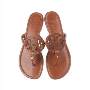 Tory Burch Brown Leather Miller Sandals 9.5